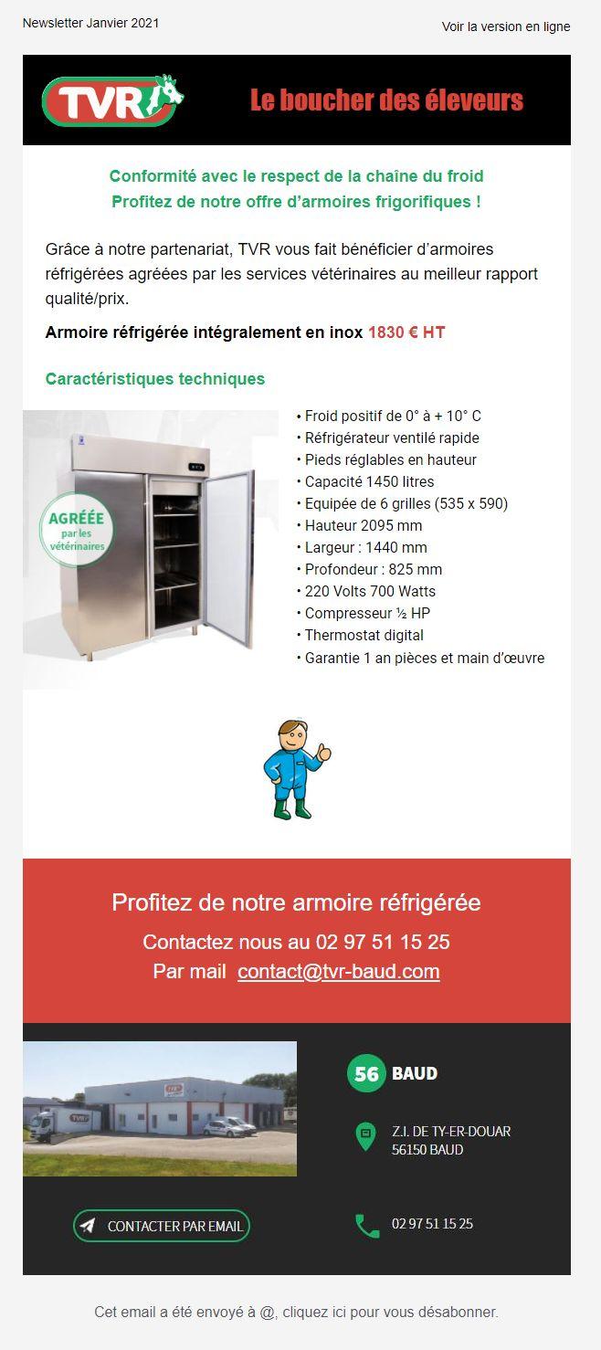 TVR Newsletter Armoire Frigorifique